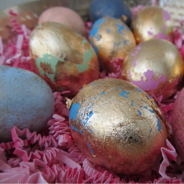 DIY Golden Eggs